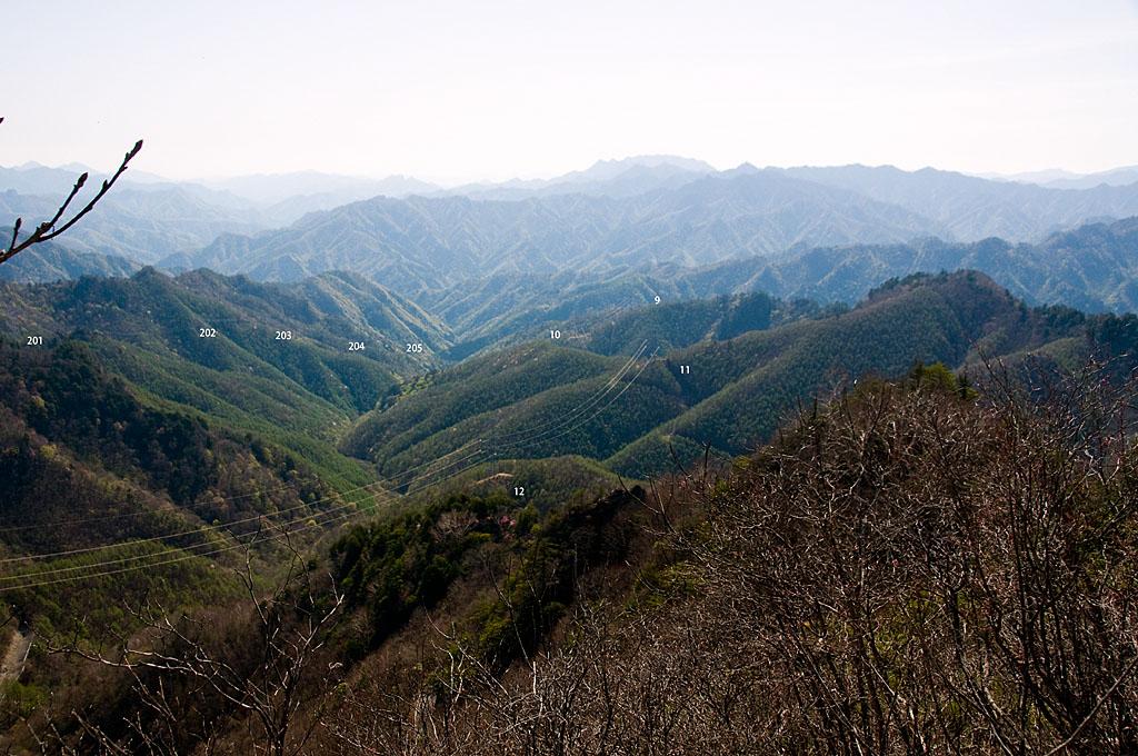 写真:「神流川線12、11、10、9…号とマムシ岳を登る安曇幹線2号線(201、202、203…号)ちょっとピンぼけ_(._.)_」へリンク